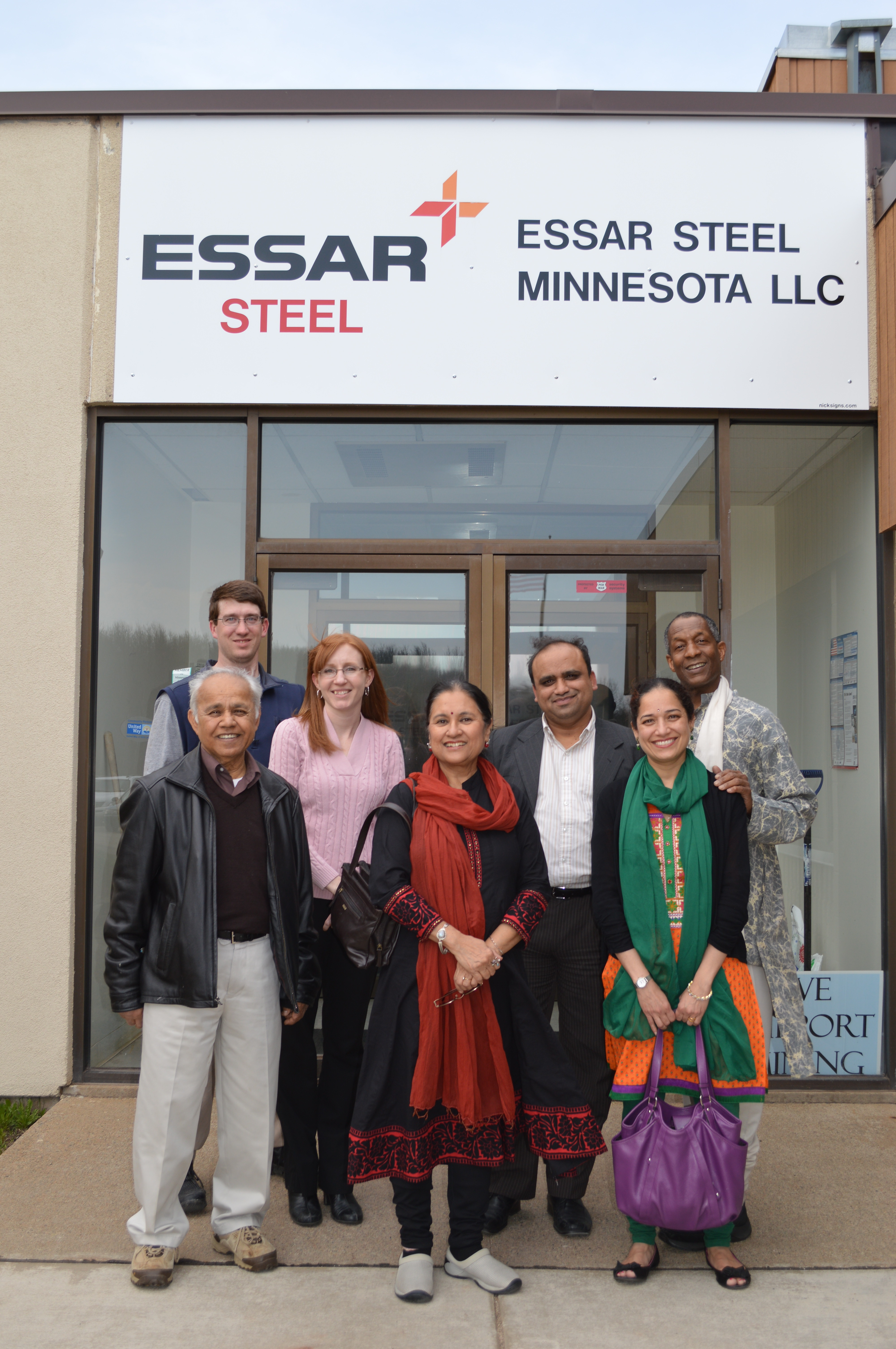 Group photo at Essar Steel