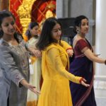 Apprentices perform at Saraswati Puja and Basant Panchami